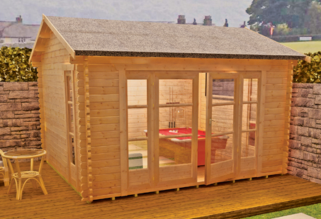 Bamber Log Cabin by Island Sheds1