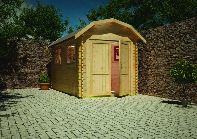 Aldford Barn 1 Log Cabin by Island Sheds