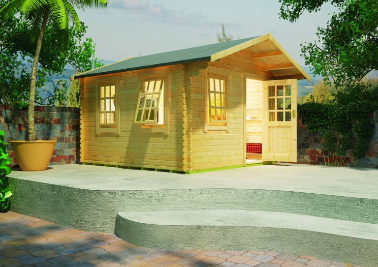 Carrington Log Cabin 1 by Island Sheds