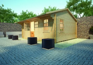 Dalton Log Cabin by Island Sheds