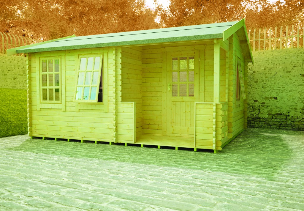 GYLES LOG CABIN 1 by Island Sheds